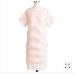 J Crew Chiron Pleated T-Shirt Dress
